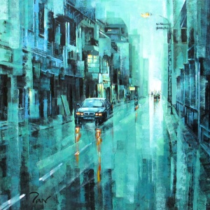 After Rain 2 , Tan Thieu , Vietnam artist , vietnam painting