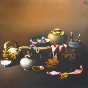 Le Ngoc Tuong , still life , painting