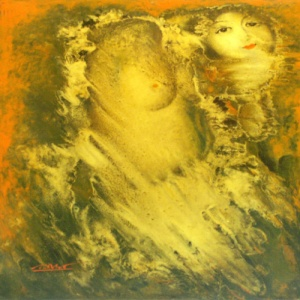 Nguyen Trung Viet , lacquer painting , nude