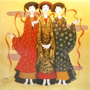 Nguyen Trung Viet , lacquer painting