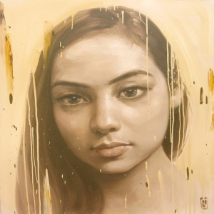 Phuong Quoc Tri , portrait of young girl
