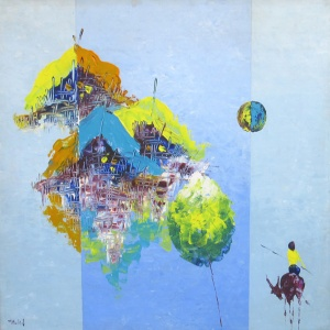 Thai Vinh Thanh , oil on canvas , vietnam artist , home