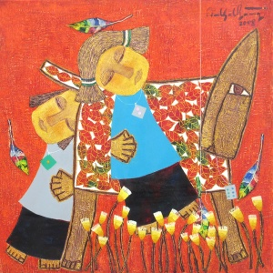 Ton That Bang , vietnam art , vietnam artist , vietnam painting , childhood , wooden horse
