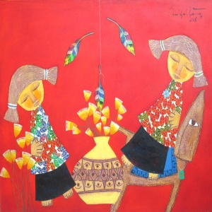Ton That Bang , vietnam art , vietnam artist , vietnam painting , childhood