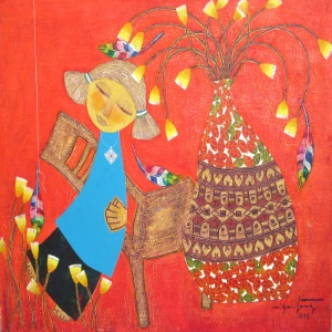 Ton That Bang , vietnam art , vietnam artist , vietnam painting , kid