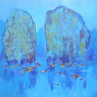 The Khanh , vietnam artist , vietnam painting , vietnam art , vietnamese paintings , Ha Long Bay