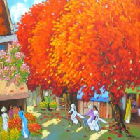 Duong Ngoc Son , vietnam artist , vietnam art , vietnam paintings , selling paintings , Summer